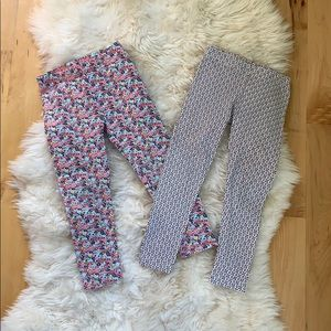 Set of 2 patterned carters leggings, size 3T